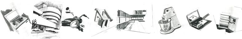 Cursus product design schetsen id sketching tekenen for Cursus 3d tekenen interieur