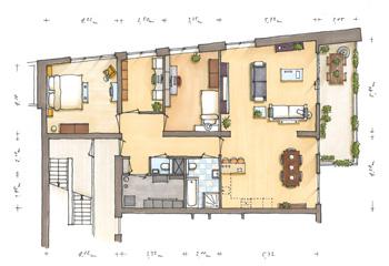 Perspectief tekenen tekencursus interieur schetsen for Huis inrichten op schaal